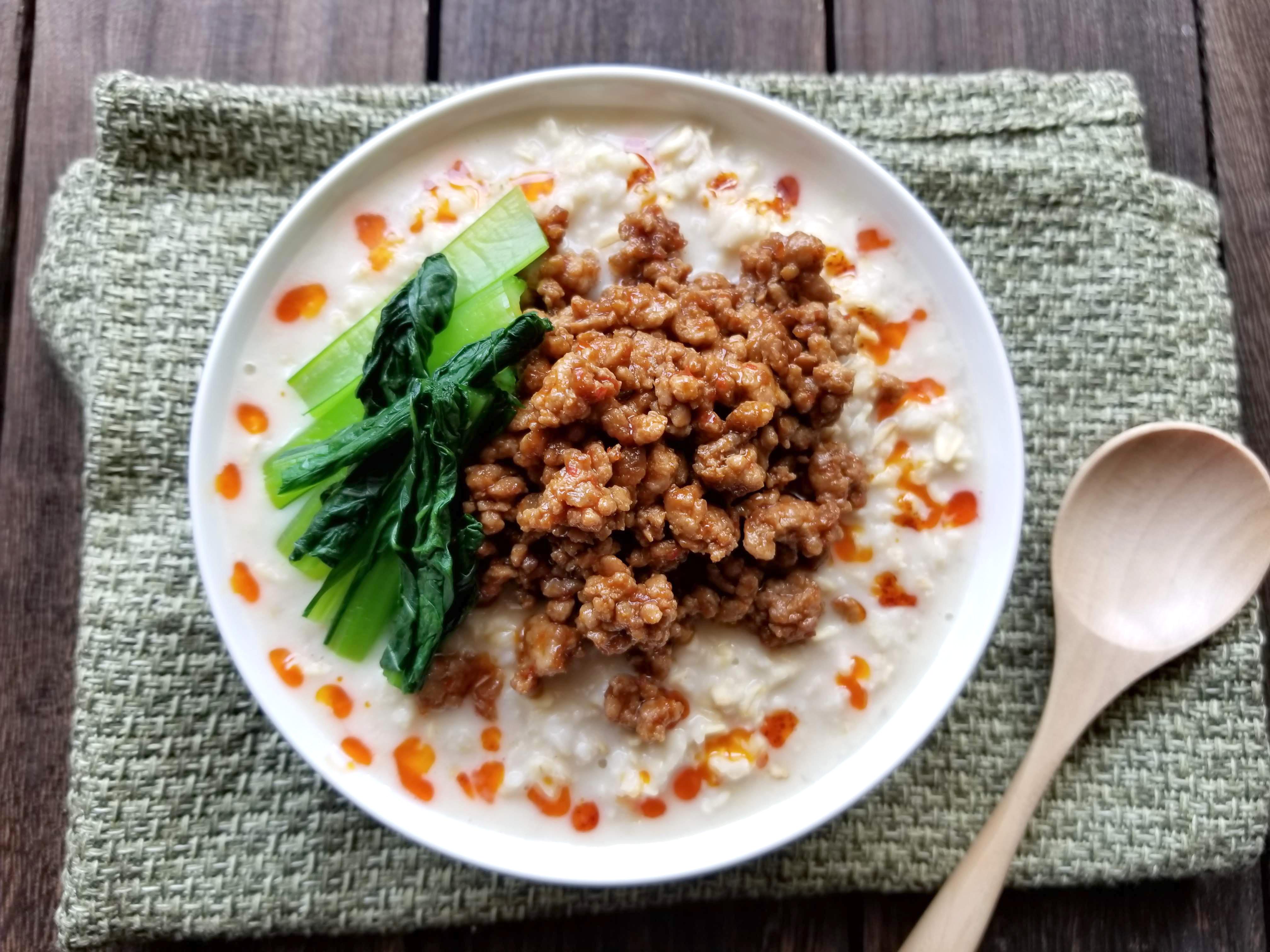 担々麺ならぬ、担々オートミール豆腐