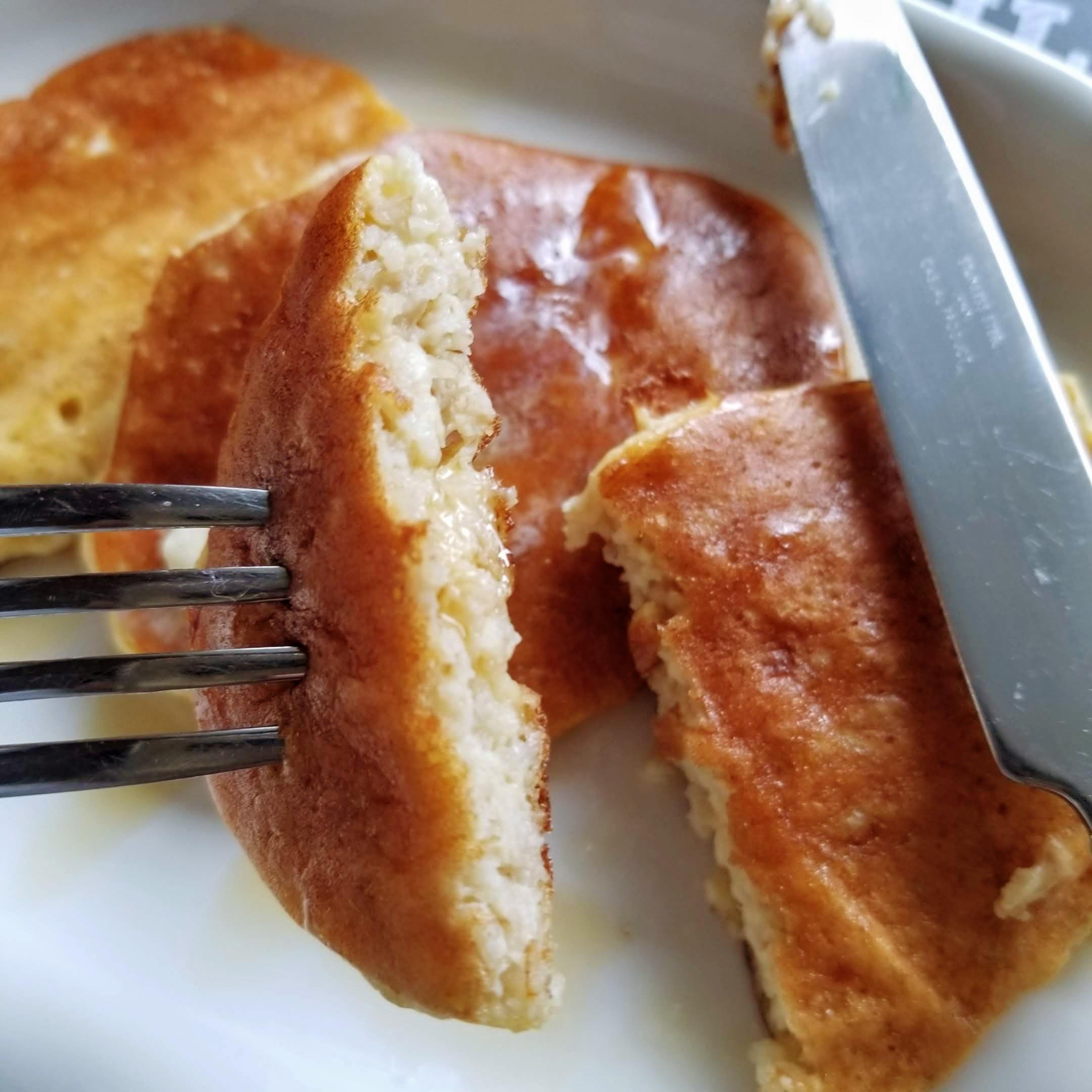 オートミールでパンケーキ